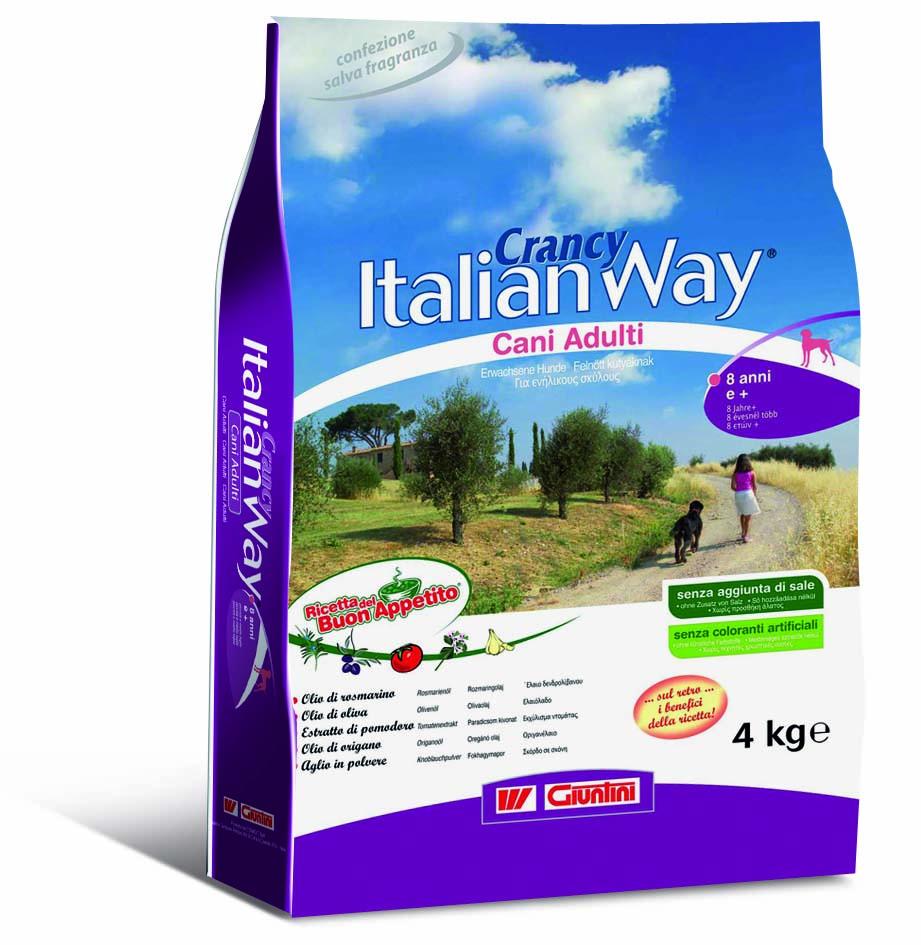"""GIUNTINI - CONAGIT - Crancy Italian Way """"Ricetta del Buon Appetito"""" per cani adulti 8 anni+"""