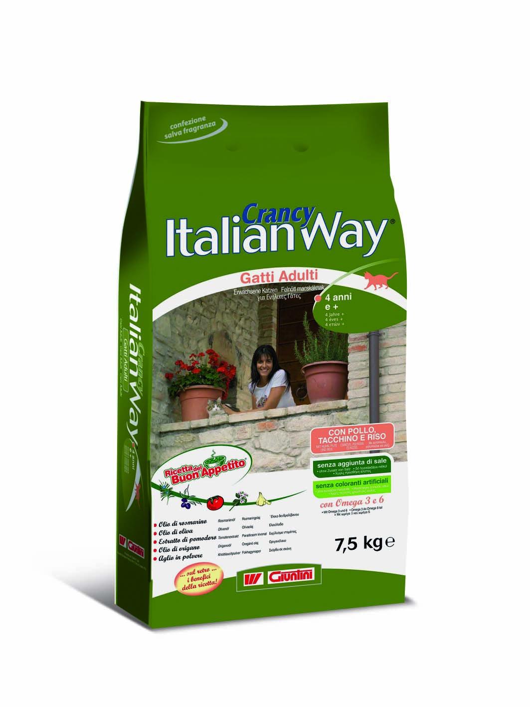 GIUNTINI - CONAGIT - Crancy Italian Way per Gatti Adulti da 4 anni e +
